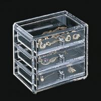 China Clear Acrylic Jewelry Display Case Holder Stand With Silk-Screen Logo on sale