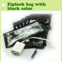 Quality mini zip lock bag/plastic zipper bag with black color for sale