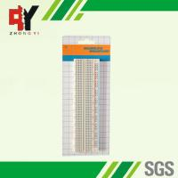 Quality white ABS Metal Solderless Breadboard 730 Points 16.6x4.4x0.85 mm for sale