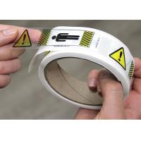 Quality Clear BOPP Printed Adhesive Electrical Warning Labels Shipping Carton for sale