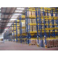 Quality Selective Pallet Racking System , Adjustable Industrial Shelving With Zinc Plated for sale
