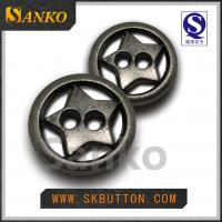 Quality custom metal shirt buttons  with star shape garment accessories in plating colors for sale