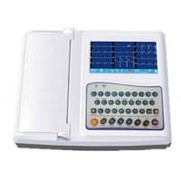 China 12 Channel Ecg Machine 7 Inch Electrocardiogram Equipment With Full Keyboard on sale