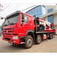 China 12 Wheeler 8x4 50 Ton Truck Mounted Knuckle Boom Cranes 50m Working Height on sale