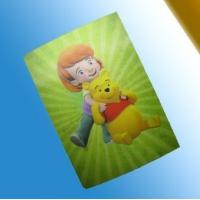 Quality PLASTICLENTICULAR 3D lenticular card/pp/pet/pvc kids promotional gifts cards/playing card for sale