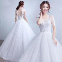 Quality Fashion Half Sleeve Open back Appliques wedding dress gowns for Bridal, Girls, Women LXHS-1338 for sale