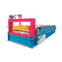 Quality PPGI Color Steel Roll Forming Machine , Corrugated Roof Sheet Machine With Smooth Feed Plate for sale
