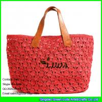 3087bd322b Buy LUDA raffia straw woven shopping bag red beach straw sea shoulder bag  at wholesale prices