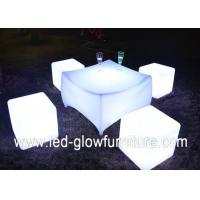 Quality PE plastic Rechargeable led cube chair and tables with Wireless IR remote control for sale