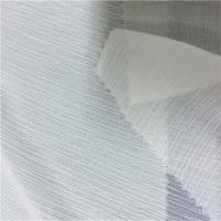 Quality CRINKLE CHIFFON White Polyester Fabric , Washable 100 Percent Polyester Fabric for sale