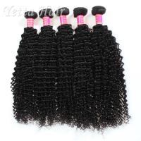 Quality Long Lasting Grade 6A Brazilian Hair Kinky Curly Weave With Tangle Free for sale