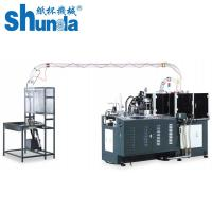 Quality Black Ultrasonic Hot Air Paper Tea Cup Making Machine / Production Machine 90-120 Pcs / Min for sale