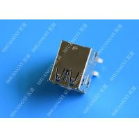 China Double Layers Female USB Micro Connector Type A Right Angle 8 Pin DIP Jack on sale