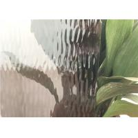 Quality Grey Flat Colored Glass Panels , Custom Size Patterned Figured Glass for sale