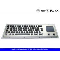 Quality Waterproof Illuminated Metal Keyboard With Touchpad And 64 Led Backlit Keys for sale