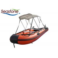 Quality 380cm Rubber Inflatable Sport Boats With Engine Customized Size for sale