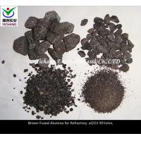 China Size 1-3mm, 3-5mm, 1-0mm Brown Aluminum Oxide Sand For The Material Of  Refractory on sale