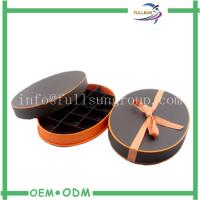 Quality Customized Cotton Ribbon Oval Chocolate Gift Boxes with Paper Divider for sale