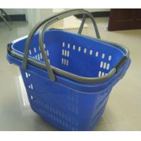 Quality Retail Shopping Basket With Wheels / Folding Plastic Storage Wheeled Shopping Baskets for sale