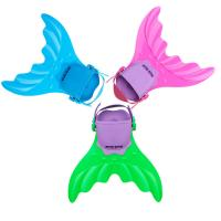 China Silicone Rubber Mermaid Tail Swim Fin 3 Colors Fit Youth's Shoes 4cm x 40cm x 16cm on sale