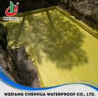 Quality PVC waterproofing membrane with fabric thickness 1.2mm-2.0mm all color for sale
