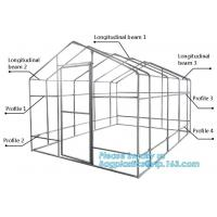 Quality hdpe woven greenhouse film, plastic roof transparent cover for green house,Good services hot galvanized structure big wa for sale