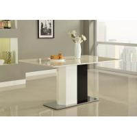 Quality White Paint Square Steel Marble Dining Tables Modern for Island Resort Room for sale