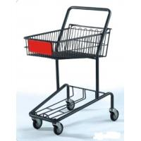 Quality Heavy Duty Double Basket Shopping Trolley Steel Shop Cart With Baby Seat for sale