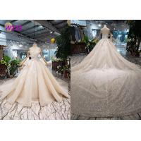 Quality O - Neck Sleeveless Handmade Bridal Ball Gowns Special Dress For Wedding Function for sale