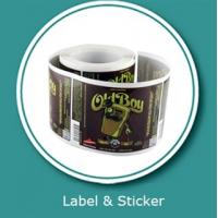 Quality Beverage label sticker customized printing and vinyl sticker printings for sale