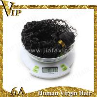 Quality Promotion Popualrity Top Quality 12inch Natural Black Deep Curly Indian Remy Hair Wefts for sale