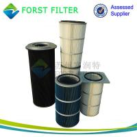 Quality FORST Manufacture Polyester Material Square Flangle Dust  Air Filter Cartridge Supplier for sale