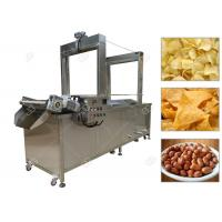 Quality Automated Snacks Frying Machine , Continuous Corn Chips Conveyor Fryer Machine for sale