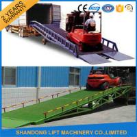 Quality 8 Ton Steel Trailer Ramp for Container Loading / Unloading 0.75kw 2.2kw Power for sale