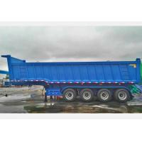 China CIMC Tipping Trailer 50 Tons , 4 Axles 16 Wheels Dump Truck Trailer on sale