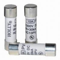 Quality Solar Fuses with 1,000V DC Voltage, 1 to 20A Current and UL Safety Approval, Measures 10.3 x 38.0mm for sale