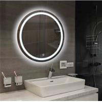 Quality 700MM Diameter LED Anti Fog Bathroom Mirror With Anti Corrosion Protection for sale