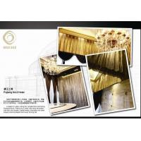 Quality Interior decorative metallic fabric/shimmering screen for sale