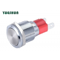 Quality Large Current Self Lock Flat Round Head 1no 2 Pin Push Button Switch for sale