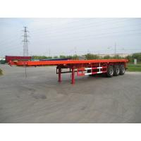 Quality Three axle Low Bed Flatbed Semi Trailer 40