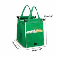 Quality Reusable Large Grocery Supermarket Grab Tote Shopping Cart Bag with Cart Clip grocery shopping bags for sale