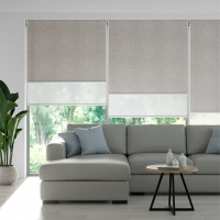 China Home day and night sunscreen smart motor electric roller blinds on sale