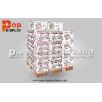 Quality Portable Pet Food Corrugated Cardboard Pallet Display , Floor Shipper Display Box for sale