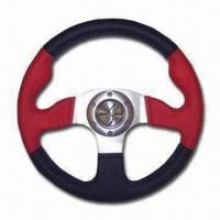 Quality Black and Red Steering Wheel, Available in Various Finishes for sale