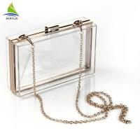 Buy cheap Trendy Clear Fashion Custom Acrylic Evening Clutch Bags For Women / Girl from wholesalers