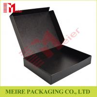 China Black color Litho laminated Mailer style box Hinged Lid corrugated Box for delivery on sale