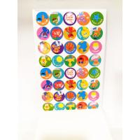 Round Kids Paper Sticker Book Printing , Personalized Stickers