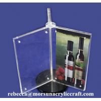 Quality Custom Design 3 Side A4 Acrylic Menu Display Holder for sale