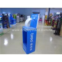 China Custom Cardboard Countertop Displays , Blue Cardboard Retail Display Case on sale