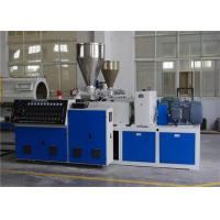 Quality Conical Twin Screw Extruder Plastic Extrusion Line For PVC Pipe for sale